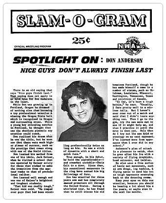"NWA ""Slam-O-Gram"" spotlight on Don Anderson"